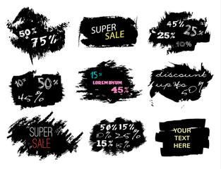 Sale banner template design. Swipe set. Vector illustration EPS 10.