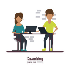 Business coworking office icon vector illustration graphic design