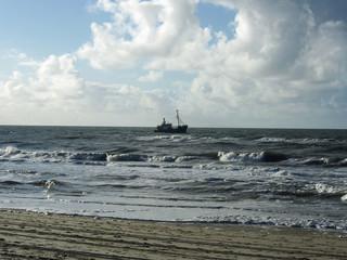 Fischkutter vor der holländischen Küste