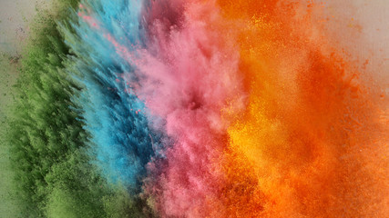 Bright rainbow Holi powder background