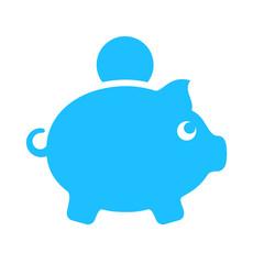 Pig money box vector sign