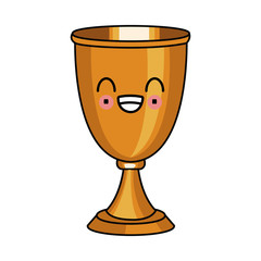 Chalice cup symbol kawaii cute cartoon vector illustration graphic