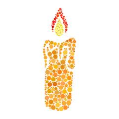 candle dot icon isolated on white background