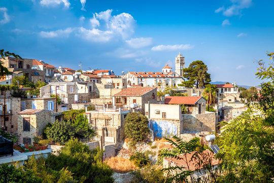 View of Pano Lefkara village in Larnaca district, Cyprus