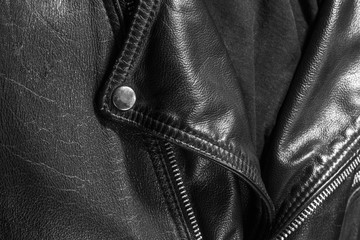 leather jacket close up