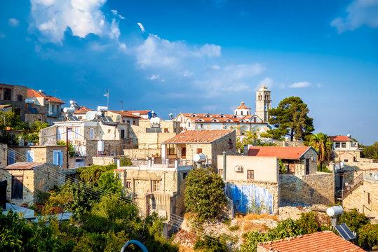 Lefkara. Picturesque mountain village. Larnaca District, Cyprus