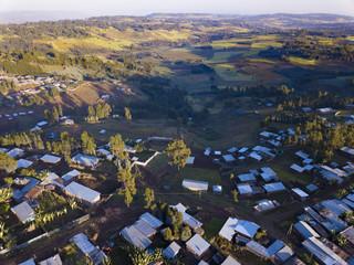 Aerial Ethiopiann village