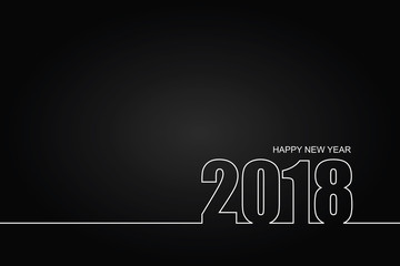 2018 Happy New Year or Christmas Background creative greeting card design.