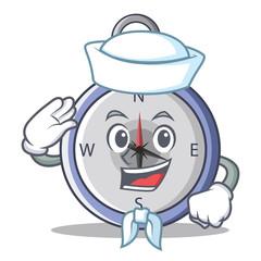 Sailor compass character cartoon style