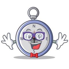 Geek compass character cartoon style