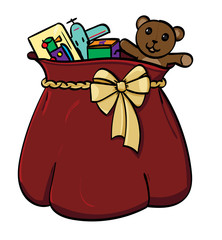 Large sack of presents.