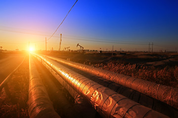 Oil pipeline, industrial equipment