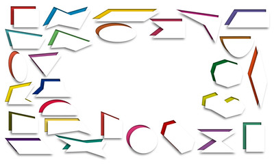 Frame of geometric shapes