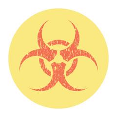 Biohazard Risk Warning Sign Grunge Style