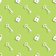 Key And Lock Seamless Pattern Background