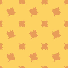 Maple Leaf Nature Seamless Silhouette Pattern