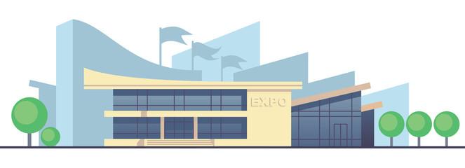 Exhibition. Vector illustration