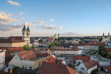 View of Eger from the Castle of Eger, Hungary