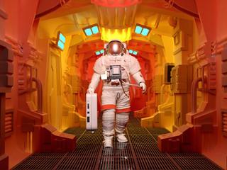 Astronaut in the corridor