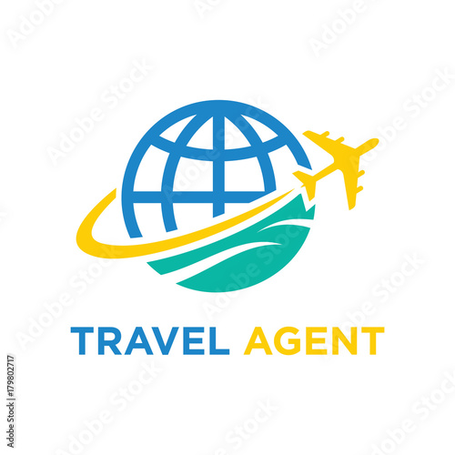 u0026quot travel agent logo holiday custom vector illustration u0026quot  stock image and royalty