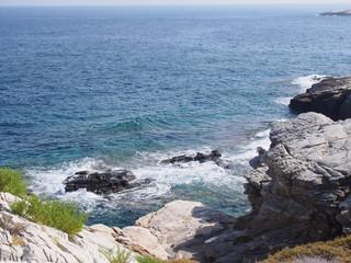 Wybrzeże greckiej wyspy Thassos