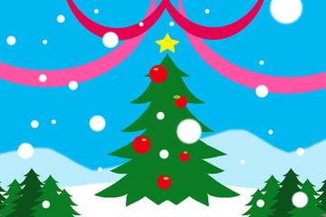 クリスマスツリーの背景画
