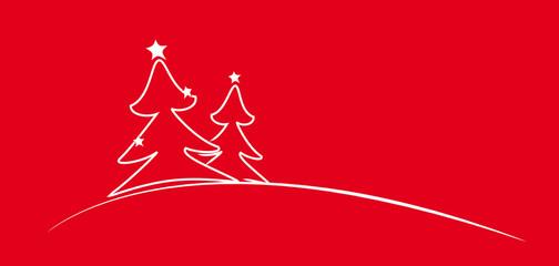 weihnachtsbäume - rot_weiss