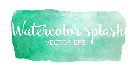 Turquoise watercolor stain vector