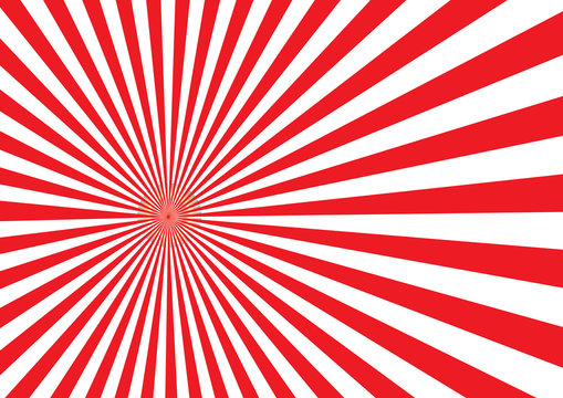 Red Japan light ray design with illustration EPS