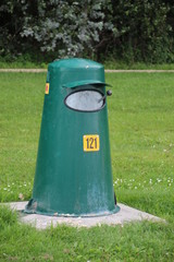 Garbage bin in a public parc in Oud Verlaat, The Netherlands