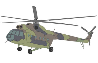 Mi-8 helicopter illustration - vector