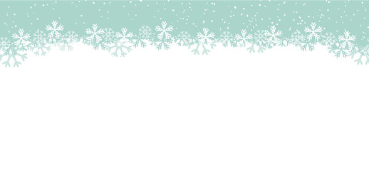 Wall Mural - blue snowflakes background panorama