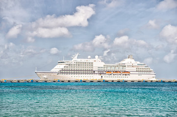 Luxury big cruise ship