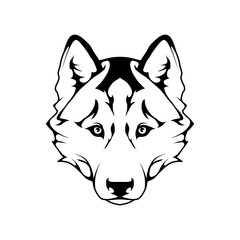 Husky dog icon.Dog collection