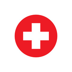 Switzerland flag, official colors and proportion correctly. National Swiss flag. Vector illustration