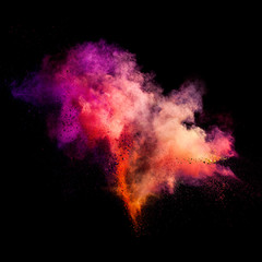 Freeze motion of colorful dust