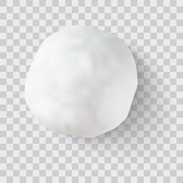 realistic snow ball vector illustration