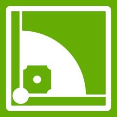 Baseball field icon green