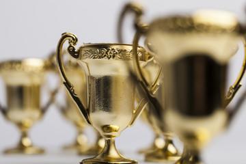 Gold winners achievement trophy background