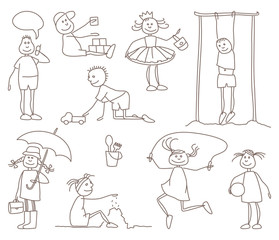 Sketches of children