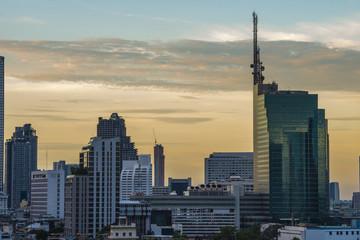 Bangkok skyline at twilight, Thailand.