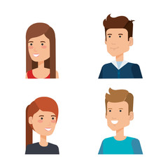 group of persons avatars characters