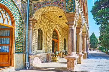 The porch of Golestan palace, Tehran