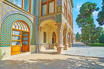The entrance to Golestan palace, Tehran