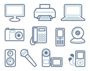 Equipment icons. Vector illustration
