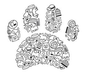 Pet-shop icons. Vector illustration