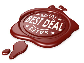 Best deal red wax seal isolated