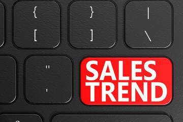 Sales Trend on black keyboard