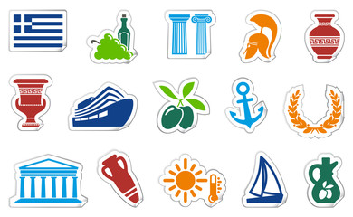 Greece stickers. Vector illustration