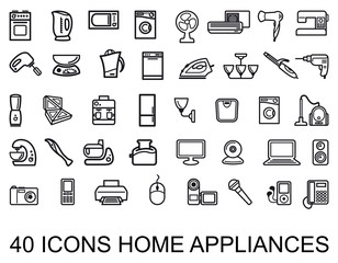 Home appliances. Vector illustration